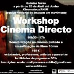 Workshop CINEMA DIRECTO pintura em película 16mm