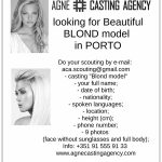 Looking for Beautiful Blond model in Porto